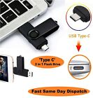 Type-C USB 2.0 Memory Stick Flash Drive PC/Mac/Android/Samsung 8/16/32/64/128GB