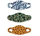 Camo 3 X Value pack Face Mask comfortable breathable reusable.