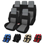 9PCS Full Set Car Seat Cover Cloth Fabric Front Back Protector Universal Fit $19.89 USD on eBay