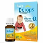 Ddrops, Baby, ( 2 Pack) Liquid Vitamin D3, 400 IU, 0.08 fl oz (2.5 ml), 90 Drops