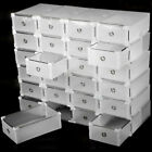 Us Foldable Plastic Transparent Shoe Box Storage Clear Organizer Stackable Boxes