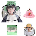 Toddler Kids Fisherman Sun Hat Face Shield with Removable Face Shield