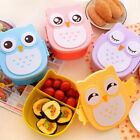 Cute Cartoon Owl Lunch Box Food Container Storage Portable Student Bento Boxes