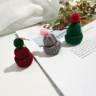Ladies Fashion Novelty Christmas Santa Knitted Hat Drop Dangle Earrings Jewelry