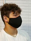 Face Mask Solid Black Double Layer reusable washable Unisex Made In The USA