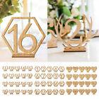 1 to 20 Wooden Table Stands Numbers Set Wedding Birthday Party Craft Decor