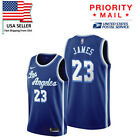 Men's Los Angeles Lakers 23# LeBron James Jersey Blue Fine Embroidery New on eBay
