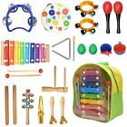22pc Wooden Kids Music Instruments Musical Kit Set Toy Children Percussion Doll