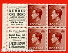 SG. 459a PB5 ( 4 ) 1½d Brown. A fine Unmounted MINT booklet pane of 6. C B48715