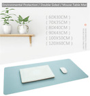 Crimp Large Mouse Pad Double-sided Color Waterproof Leather Suede Desk Pad