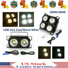 LED Audience Stage Par Light COB Blinder Cool/Warm White Anti Glare 200/400W USA