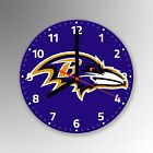 Baltimore Ravens American Football NFL Glass Clock