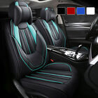 Luxury Leather Car Seat Covers 5 Seats Full Set Protector Universal Stereo Style $105.99 USD on eBay