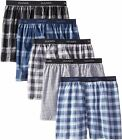 Hanes Men's 4 & 5 Pack Comfortblend Woven Boxers with FreshIQ