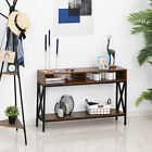 Console Table Industry Desk with Shelf Living Room, Entryway, Bedroom