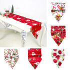 1pc Red Table Runner Table Flag Tablecloth Dining Place Mat Christmas Home Decor
