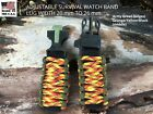20 22 mm Fire Ball Orange Camouflage Green Adjustable Survival Paracord  Band