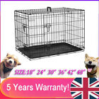Dog Cage Puppy Pet Crate Carrier Small Medium Large 18-48 inch Strong Metal