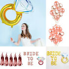 Wedding Bride To Be Rose Gold Letter Foil Balloons Banner Bachelor Party Decor
