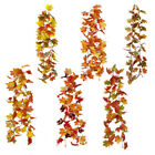 1pc 1.8m Artificial Autumn Fall Maple Leaves Garland Hanging Plant Home Decor Uk