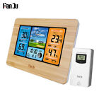 Digital LCD Indoor/Outdoor Weather Station Clock Calendar Thermometer Wireless