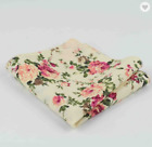 Men's Floral Printed Cotton Pocket Square | Handkerchief for Gifts Prom Wedding