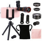 US All in 1 Accessories Phone Camera Telephoto Lens Selfie Tripod Kit For Mobile