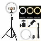 """10"""" LED Ring Light with 2.1M Stand for Youtube Tiktok Makeup Video Phone Selfie"""
