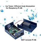 For Raspberry Pi 4B Case Replacement Ice Tower Metal Heat Dissipation Shell