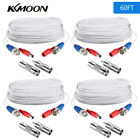 60ft Security Camera Video Audio Power Cable BNC RCA CCTV DVR Surveillance Kit
