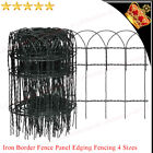 Garden Patio Border Fence Panel Outdoor Lawn Edging Fencing iron wire 4 Sizes UK