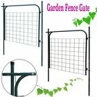 Garden Galvanised Steel Fence Gate 100x100 cm Single Door Green/Anthracite