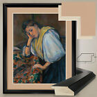 "32W""x38H"":  WOMAN AT A TABLE by PAUL CEZANNE  - DOUBLE MATTE, GLASS and FRAME"