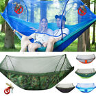Double Person Camping Hanging Hammock Bed With Mosquito Net Summer Hiking Travel