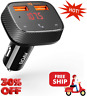 Audio Adapter Smart Charge F0 Bluetooth FM USB Port Transmitter Receiver for Car