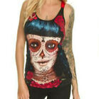 MEXICAN DAME VEST TOP by JAWBREAKER  GOTH  ALTERNATIVE EMO SIZE  SMALL