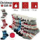 Winter Womens Thermal Cozy Fuzzy Sherpa Fleece-lined Non-Skid Slipper Socks 5-11