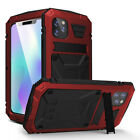 For iPhone 12 11 Pro Max XS XR LOVE MEI Armor Shockproof Metal Phone Case Cover