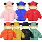 Toddler Kids Baby Grils Boys Hooded Outdoor Jacket Thick Warm Windproof Coat Top