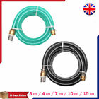 Suction Hose with Brass Connectors Water Pipe With Foot Valve Green/Black