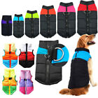 Dog Pet Warm Insulated Padded Coat Winter Puffer Jacket Zip Shirt Clothes Sizes