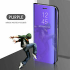 Mirror Flip Case for OnePlus 8T/8T+ 5G Nord 8 7T 7 Pro Leather Stand Phone Cover
