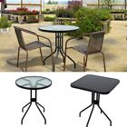 Black Wicker Bistro Sets Table  Patio Garden Outdoor Furniture Diner Home
