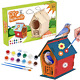 YISUYA DIY Birdhouse Kit for Kids to Build, Unfinished Birdhouses to Paint for photo