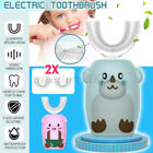 U Shaped Type 360  Auto Waterproof Sonic Electric Toothbrush With 2 Brush Heads