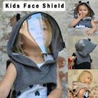 Full Protective Face Wear Clear Hooded Hat Child Face Shield Reusable Removable`
