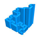 Hilbert Curve Marble Run Math Geometry Track Path 3D Printed - Choice of Color