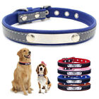 Engraved ID Name Dog Collar Reflective Leather Pet Supplies Cat Collars