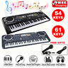 More images of 61 Key Digital Electronic Piano Keyboard Microphone USB Electric LED Kids Adults