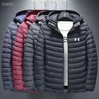 2021 Men's New Down cotton Jacket Winter Thick Coat Hooded Warm Puffer Overcoat